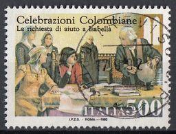 Italia 1992 Uf. 2012 Cristoforo Colombo Cerca Aiuto Dalla Regina Isabella Viaggiato Used - Christopher Columbus