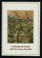 """2015 ITALIA """"CENTENARIO GRANDE GUERRA / BATTAGLIA DI PODGORA"""" FOLDER ANNULLO 27.07.2015 (PODGORA) - 6. 1946-.. Repubblica"""
