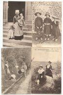 Lot De 132 Cartes Postales Folkloriques : Costumes, Danses... Bretagne, Alsace, Sarthe... - Costumes
