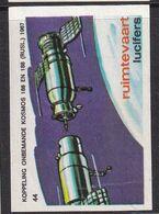 Netherlands Space Weltraum Espace: Lucifers Matchbox Labels: Kosmos 186 And Kosmos 188 - Zündholzschachteletiketten