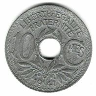 ---154035313528--- 10 Centimes Lindauer 1941 Sans Point Non Souligné En état SUP - France