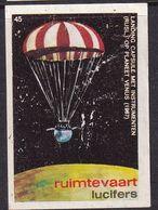Netherlands Space Weltraum Espace: Lucifers Matchbox Labels: Russia Venus Research; Parashutes - Zündholzschachteletiketten