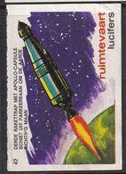 Netherlands Space Weltraum Espace: Lucifers Matchbox Labels: USA Apollo Space Project - Zündholzschachteletiketten