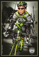 CARTE CYCLISME TYLER HAMILTON SIGNEE TEAM ROCK RACING 2008 - Radsport