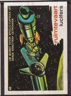 Netherlands Space Weltraum Espace: Lucifers Matchbox Labels: USA Apollo Space Project - Third Stage Of Saturn Rocket - Zündholzschachteletiketten