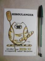 Autocollants Stickers - Animaux Oiseaux HIBOU Humanisé Métier Boulanger - Publicité Magazine - Stickers