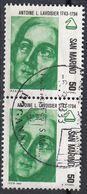 San Marino 1982 Uf. 1095 Antoine Lavoisier Chimico Biologo Filosofo Viaggiato Used - Saint-Marin