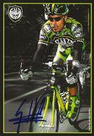 CARTE CYCLISME VICTOR HUGO PEÑA SIGNEE TEAM ROCK RACING 2008 - Radsport