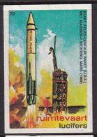 Netherlands Space Weltraum Espace: Lucifers Matchbox Label USA Space Project Atlas Rocket With Mariner 7 - Zündholzschachteletiketten