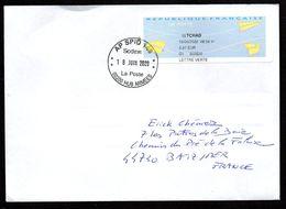 Enveloppe Vignette AP SPID 148 Sodexo La Poste 00200 HUB ARMEES Oblitérée Du 18/06/2020 - Marcophilie (Lettres)