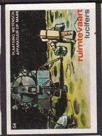 Netherlands Space Weltraum Espace: Lucifers Matchbox Label USA Man On Moon; Eagle Modul - Zündholzschachteletiketten