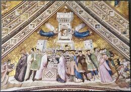 Ak Italien - Assisi - Basilica Di S. Francesco - Kirche,church, Eglise - Sinnbild Der Keuschheit - Gemälde, Glasmalereien & Statuen