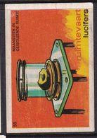 Netherlands Space Weltraum Espace: Lucifers Matchbox Label USA  Moonstone In Isolated Space; Minerals; - Zündholzschachteletiketten