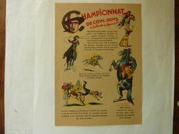 """Championnat De Cow-Boys à Salines (californie) - Publicité """"Teinture Idéale - Boule- Raviba  """" - Pubblicitari"""
