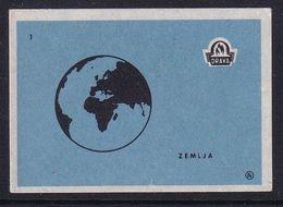 Yugoslavia Space Weltraum Espace: Drava Matchbox Label; Earth - Zündholzschachteletiketten