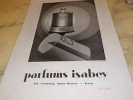 ANCIENNE PUBLICITE PARFUM MON SEUL AMI DE ISABEY  1930 - Pubblicitari
