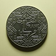 Morocco 1 Franc 1924 Thunderbolt - Morocco