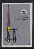 Yugoslavia Space Weltraum Espace: Drava Matchbox Label; Explorer Satellite 1958; Atlas Rocket - Zündholzschachteletiketten
