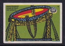 Yugoslavia Space Weltraum Espace: Drava Matchbox Label; Radio Telescope For Satellite Monitoring - Zündholzschachteletiketten