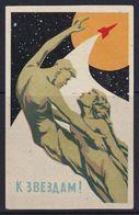 Russia Space Weltraum Espace: Matchbox Label; Russia Cosmonauts Monument; To The Stars; Gagarin Thereskowa - Zündholzschachteletiketten