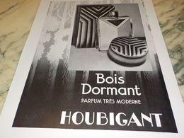 ANCIENNE PUBLICITE PARFUM BOIS DORMANT DE HOUBIGANT 1930 - Pubblicitari