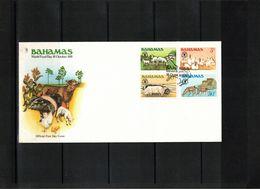 Bahamas 1981 Farm Animals FDC - Ferme