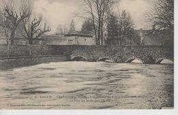 CPA Chatillon-sur-Seine - Inondations Des 8 Et 9 Février 1910 - 2e Crue - Le Pont Des Boulangers (en Aval) - Chatillon Sur Seine