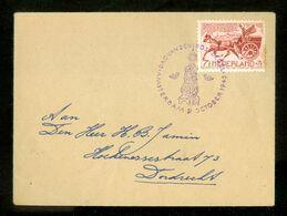 BRIEFOMSLAG *  NVPH 422 POSTKOETS  * GELOPEN In 1943 Naar DORDRECHT   (11.823f) - 1891-1948 (Wilhelmine)