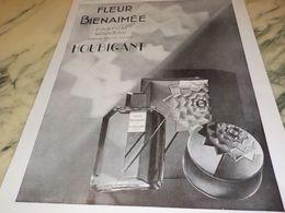 PUBLICITE PARFUM FLEUR BIENAIME HOUBIGANT 1930 - Manifesti