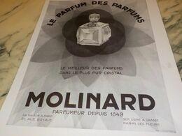 ANCIENNE PUBLICITE PARFUM  DES PARFUM DE MOLINARD 1930 - Manifesti