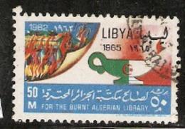 Libya  1965  SG  340  Burnt Algerian Library   Fine Usd - Libië