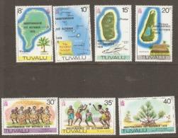 Tuvalu 1978   SG 95-100  Independence Unmounted Mint - Tuvalu