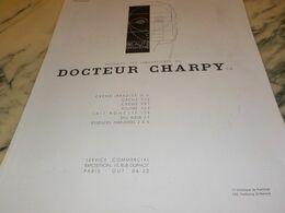 ANCIENNE  PUBLICITE DES LABORATOIRE DOCTEUR CHARPY 1930 - Pubblicitari