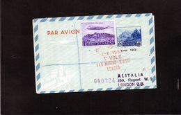 CG47 - 1959 San Marino - I° Volo San Marino - Rimini - Londra - Aerogramma - Poste Aérienne