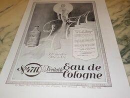 ANCIENNE PUBLICITE EAU DE COLOGNE  4711 SANTE ET BEAUTE 1930 - Manifesti