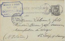 1895 / Carte Commerciale BOYER & Fils / Meubles, Sièges, Tentures / 05 Gap - France