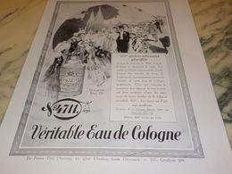 ANCIENNE PUBLICITE EAU DE COLOGNE 4711 UNIVERSELLEMENT GLORIFIEE 1930 - Manifesti