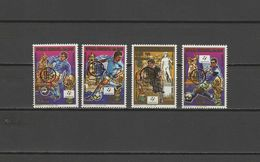 Malagasy - Madagascar 1993 Football Soccer World Cup Set Of 4 With Winners Overprint In Gold MNH - 1990 – Italia