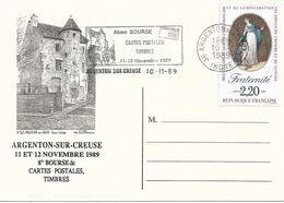 Argenton Sur Creuse 8e Bourse 11 Et 12 Novembre 1989 - Timbrée Et Tamponnée Du Jour 1000ex - Collector Fairs & Bourses