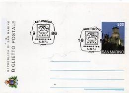 CG47 - 1986 San Marino -  Assemblea U.S.F.I. - Entiers Postaux