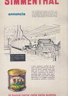 (pagine-pages)PUBBLICITA' SIMMENTHAL  Tempo1957. - Libros, Revistas, Cómics
