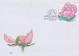 2392 - Estonia - 2011 - Flower Stamp Peony - FDC - Lemberg-Zp - Estonie