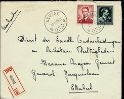 Doc. De VEURNE - B B - Du 14/11/55 En Rec. ( E ) - Marcophilie