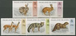 Falkland-Inseln 1995 Eingeführte Wildtiere: Rotfuchs, Feldhase 659/63 Postfrisch - Falklandinseln