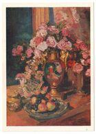 STILL LIFE. ROSES, 1916 By KONSTANTIN KOROVIN, Russian Painter. Unused Postcard - USSR, 1982 - Malerei & Gemälde