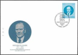 2397 - Estonia - 2011 - President Of Estonia - Heinrich Mark - FDC - Lemberg-Zp - Estonie