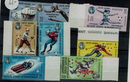 ADEN (QU`AITI STATE IN HADHRAMAUT) 1967 WINTER OLYMPICS GAMES GRENOBLE 68 MI No 123-30 MNH VF!! - Winter 1968: Grenoble