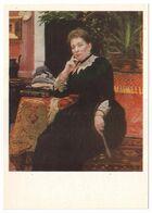 PORTRAIT OF OLGA ALEKSANDROVA-GEINS, 1890 By ILYA REPIN, Russian Painter. Unused Postcard - USSR, 1982 - Malerei & Gemälde