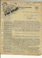 """84 - Vaucluse - L'Isle Sur Sorgue -Facture - Sté. Vinicole Languedocienne - """" Femme à La Coupe """"  - 1921 - Réf. 44 . - France"""
