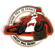 Pin's Moto Grand Prix De France 1991  Moto Revue Circuit Paul Ricard Zamac AMC - Motorräder
